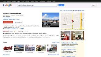 Google Places Collision Repair Shop, Customer Testimonials